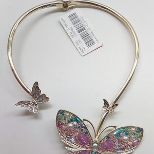 Betsey Johnson New Butterfly Metal Necklace